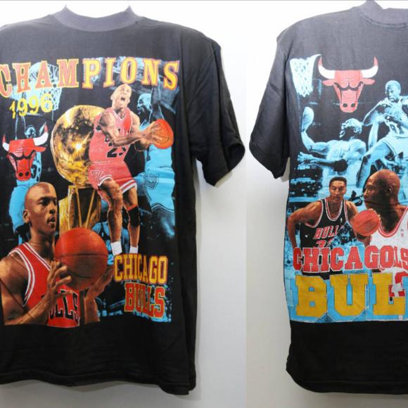 064b3b2cf Shirts | Chicago Bulls 1996 Nba Champions Deadstock Rap Tee | Poshmark